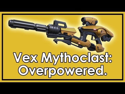 rifle - The Vex Mythoclast is only available to those of you who have braved the Vault of Glass on hard mode. It is incredibly good. Why? And should it be stopped? Check out http://www.destinynews.net...