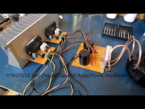 STK4050XI Two Channel Class AB Audio Power Amplifier kit part 1