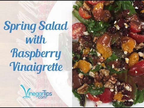Spring Salad with Raspberry Vinaigrette