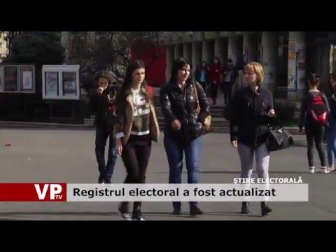 Registrul electoral a fost actualizat