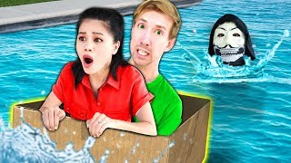 Video LAST TO SINK WINS $10,000 CHALLENGE (DIY BOAT vs Hacker PZ9 Reveals Safe House to Project Zorgo) MP3, 3GP, MP4, WEBM, AVI, FLV Agustus 2019