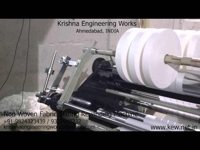 Non Woven Fabric Slitting Rewinding Machine – Krishna Engineering Works