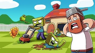 Minecraft - CRAZY DAVE GOES TO WAR AGAINST ZOMBIES! (Plants vs Zombies Challenge)