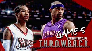 Allen Iverson vs Vince Carter Duel Highlights 2001 Playoffs ECSF G5 76ers vs Raptors - AI with 52!