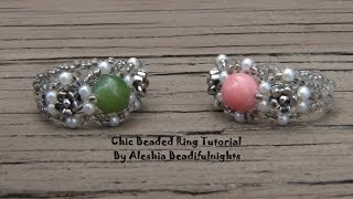 Chic Beaded Ring Tutorial - YouTube