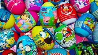 80 Surprise Eggs - Peppa Pig,Toy Story,Dora the explorer,Cars, Angry Birds, Spongebob.