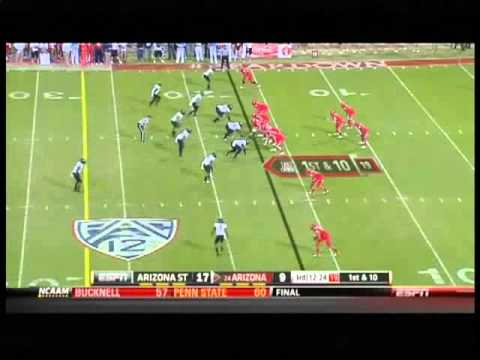 Will Sutton vs Arizona 2012 video.