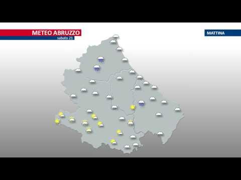 Meteo, previsioni Abruzzo per il 21 gennaio VIDEO