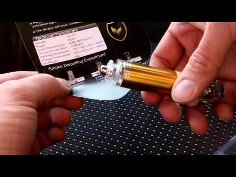 Winten WT-CAP01-SL Auto Luftreiniger löst Zigaretten Qualm und Gestank auf