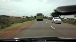 Gadag India  city photo : Crazy Indian Roads #4 - Gadag Hubli road (Dangerous Bus)