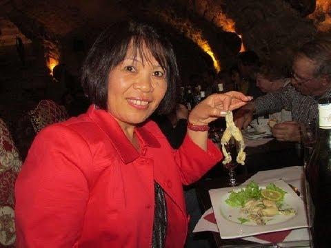 Eating Frogs Legs in Paris
