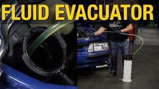 Remove fluids during service is now easier then ever! Great for brake bleeding, rear differentials, removing gas, oil, coolant and MORE! Get One HERE: http://www.eastwood.com/6-5-l-manual-operation-fluid-evacuator.html#utm_source=youtube&utm_medium=annotation&utm_campaign=2017-07-06&utm_content=Fluid%20EvacuatorThe 6.5L Manual Fluid Evacuator works without any electricity or air compressors so you can quickly and efficiently drain fluids.6.5L capacityFour different suction probesSuitable for oils and most other service fluidsSemi-transparent tank allows fluid measurementManual Fluid Evacuator works without the need for an air compressor or electricity so you can use it almost anywhere. Extract fluids from Vehicles, boats, RVs, ATVs, farm equipment, motorcycles and more while monitoring the fluid amount being extracted.For more information on Eastwood products visit www.eastwood.com or stay connected with the team via:Facebook - https://www.facebook.com/eastwoodcompany Instagram - http://instagram.com/eastwoodco Blog - http://www.eastwood.com/blog Eastwood has everything you need to do the job right when you're restoring a car, truck or motorcycle - from welders to paint and everything in between.