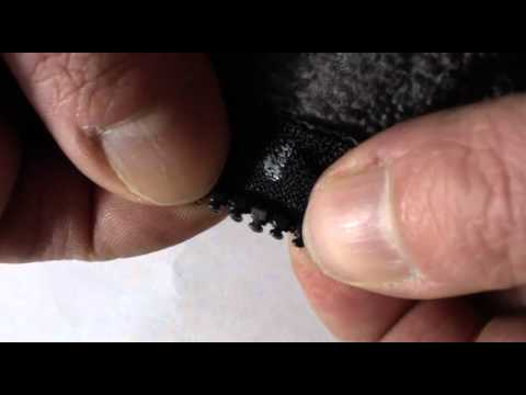 Repair Replace or fix missing broken tooth or teeth on a plastic zipper