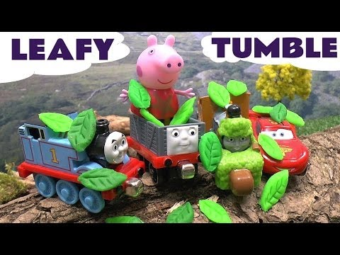 thomas - Peppa Pig, her friends and Hello Kitty take a ride in the cars of Thomas engines down the Thomas and Friends Take N Play Spills and Thrills Add On Set called...