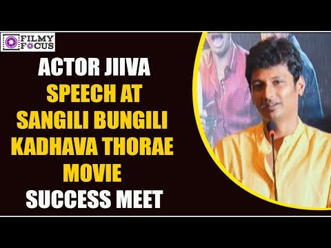 Actor Jiiva Speech At Sangili Bungili Kadhava Thorae Movie Success Meet || Tamil Focus