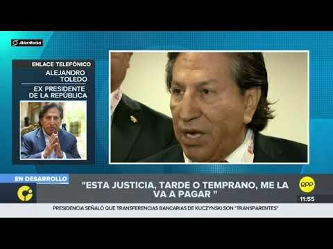 Alejandro Toledo llora en entrevista a RPP Parte 1