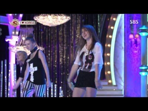 러시아 소녀들 '소녀시대-씨스타' 커버 댄스 @놀라운 대회 스타킹 130803 (видео)