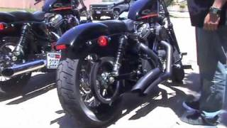 6. harley sportster forty eight (48) stage 1 vance & hines competition series vs big radius exhaust