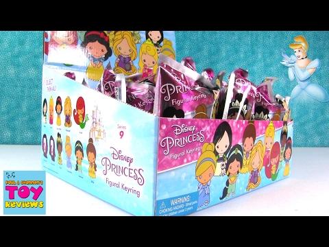 Disney Princess Figural Keyrings Series 9 Blind Bags Opening | PSToyReviews
