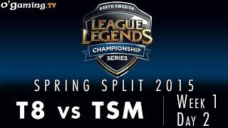 LCS NA Spring 2015 - W1D2 - T8 vs TSM