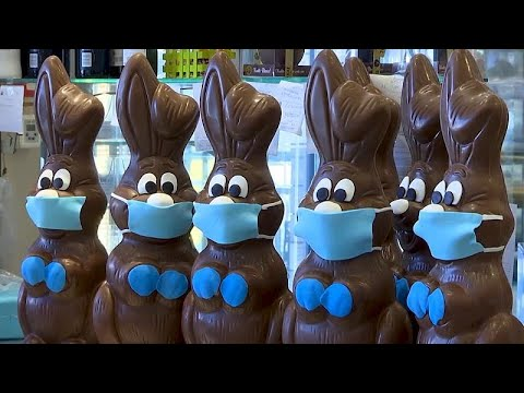 Πασχαλινά σοκολατένια λαγουδάκια με… μάσκες προστασίας…