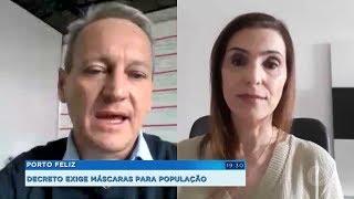 Porto Feliz: decreto exige máscaras para população
