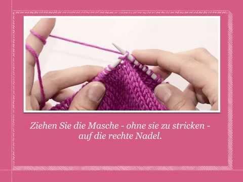 Rechte Maschen abheben | Strickenlernen.ch