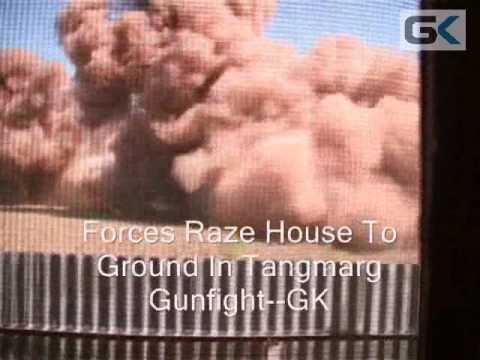 Women wail as forces raze house to ground In Tangmarg gunfight