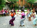 Indonesian Girls Practising for Dance