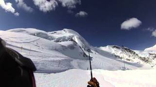Saas-Fee Switzerland  city images : Skiing off the Summit of Saas Fee Switzerland into the Powder