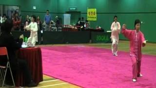 冷先鋒師傅弟子霍麗平獲2012年沙田武術精英賽女子太極拳冠