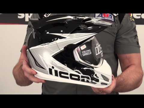 Icon Variant Reflective Black Helmet Review from SportbikeTrackGear.com