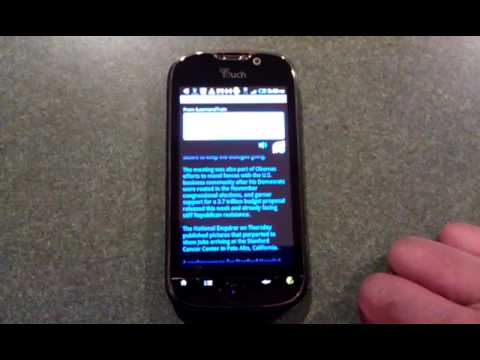 Video of Android Web Reader