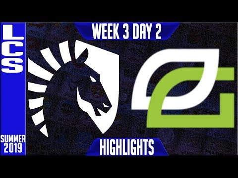 TL Vs OPT Highlights | LCS Summer 2019 Week 3 Day 2 | Team Liquid  Vs Optic Gaming