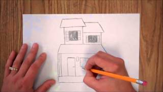 How to Draw a Spooky House for Kids
