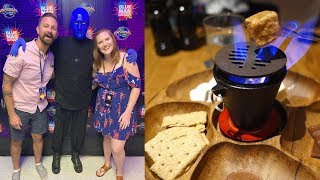 Universal Orlando Date Night! | Blue Man Group VIP Experience, Dinner At BigFire & A Food Review!