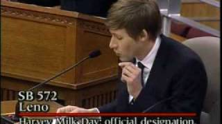 Dustin Lance Black Testimony for Harvey Milk Day