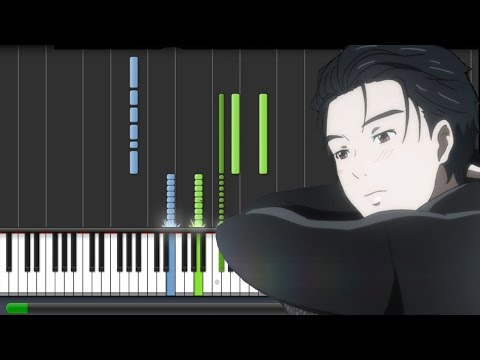 Yuri!!! on ICE [ユーリ!!! on ICE] EP 3 OST - Eros (Piano Synthesia Tutorial + Sheet) (видео)