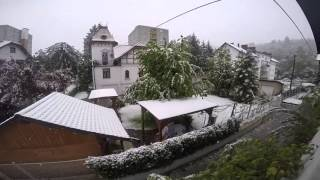 Celje Slovenia  city pictures gallery : Snow on April/27th/2016, 5pm, Celje Slovenia