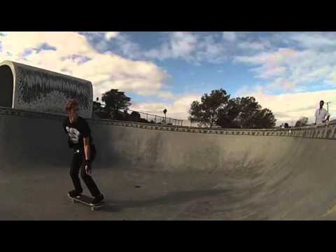 Jackson Boomer skateboarding Mike Fox Santa Cruz skate park clip (MFSC Bowl Skating)