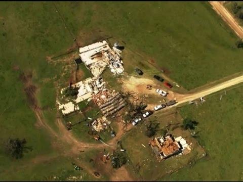 Raw: Tornado Tears Into Okla. Homes