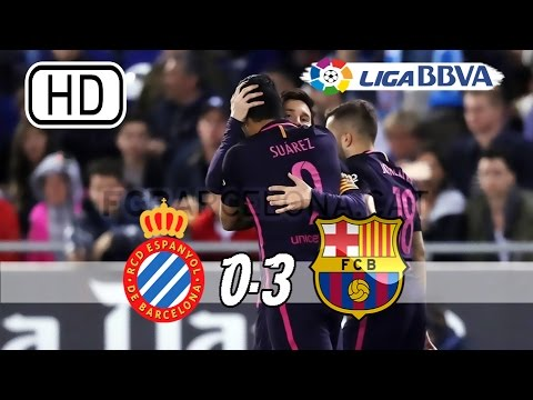 Espanyol vs Barcelona 0-3 - All Goals & Extended Highlights - La Liga 29/04/2017 HD
