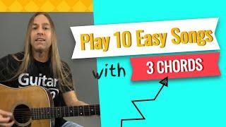 Video Play 10 Easy Songs with Only 3 Guitar Chords - Beginner Guitar Lessons | Steve Stine MP3, 3GP, MP4, WEBM, AVI, FLV Oktober 2018