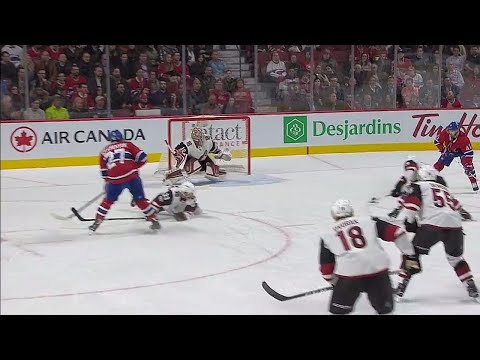 Video: Canadiens' Byron finishes off nifty pass from Galchenyuk