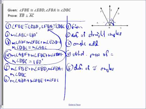 Senkrechten Linien Geometry Proof