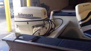 5. 1998 Sea Nymph Angler 16.5ft side console open bow aluminum boat