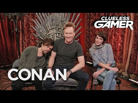Clueless Gamer Conan O Brien Plays Overwatch with Game of Thrones Stars Peter Dinklage and Lena