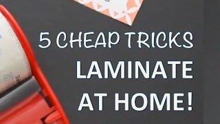 DIY LAMINATOR TIPS | How To Laminate At Home