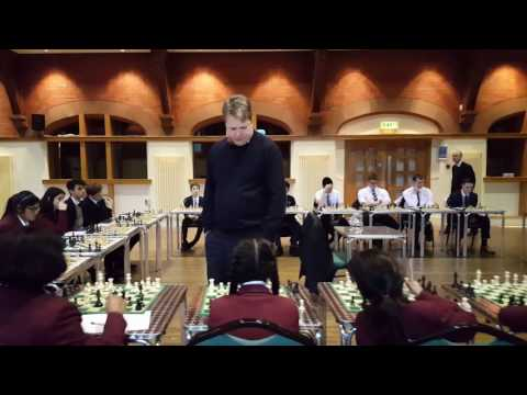 Nigel Short Simultaneous Chess Match - Bolton School February 2017