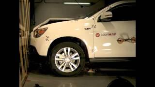Crash test delantero Mitsubishi Asx en Cesvimap